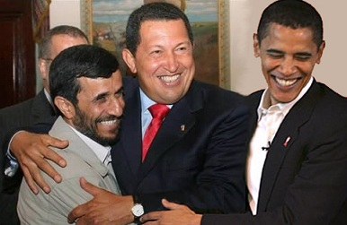 CHAVEZ OBAMA Y AHMADINEJAD